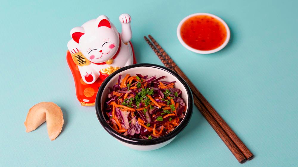 Salade de choux rouge et carottes